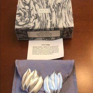 Vintage Avon Sterling Silver Pierced Earrings